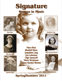 Signature: Women in Music Spring/Summer 2011, Vol. III, No. 2